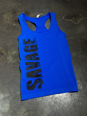 LADIES SAVAGE ELECTRIC TANK BLUE (TM)