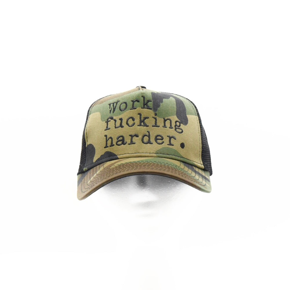 Work f%cking harder. SERIES (New Era Trucker Snapback)