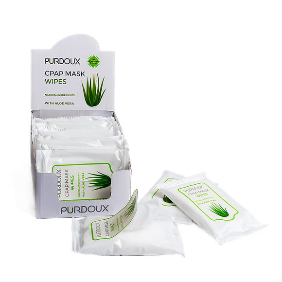 PÜRDOUX™ CPAP Mask Wipes Travel Pack With Aloe Vera-CPAP Parts & Accessories-RestoreSleep.net