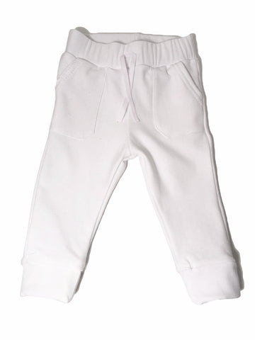 Bamboo Fleece sweatpants - White