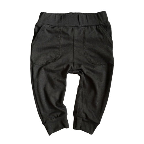 Bamboo Pocket pants - Night Sky (Black) - KEWE Clothing