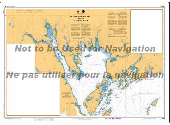 CHS Marine Chart 4115 Passamaquoddy Bay and St. Croix River