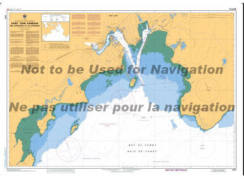 CHS Marine Chart 4117 Saint John Harbour and Approaches.
