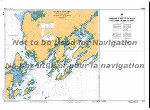 CHS Marine Chart 4124 Harbours in the Bay of Fundy Southwest Coast