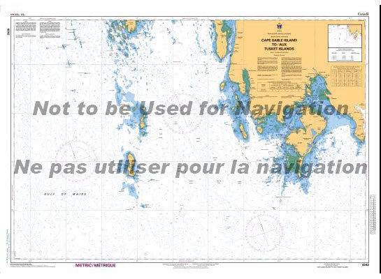 CHS Marine Chart 4242 Cape Sable Island to Tusket Islands