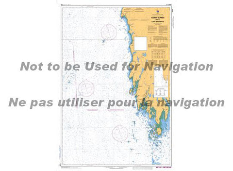 CHS Marine Chart 4243 Tuskets to St. Mary's
