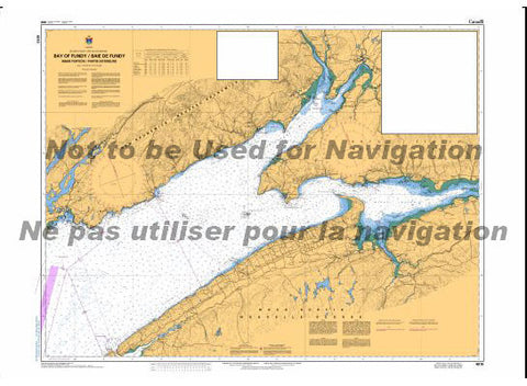 CHS Marine Chart 4010 Inner Portions of the Bay of Fundy