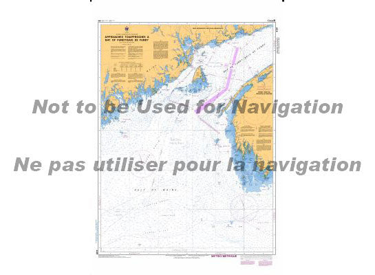 CHS Marine Chart 4011 Approaches to the Bay of Fundy