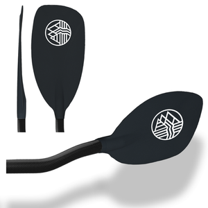 H2O-2 Bent Carbon Shaft White Water Paddle