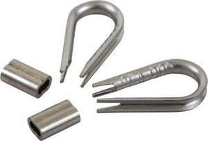 Stainless Steel Cable Thimble and swedge crimp