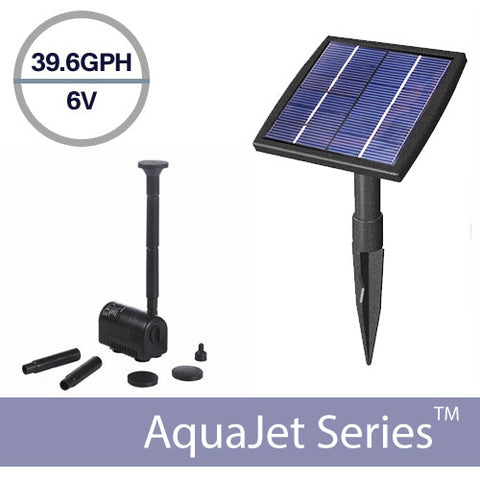 Solar Fountain Submersible Pump Kit 6V 1.5 Watt – AquaJet Solar Fountain Kit