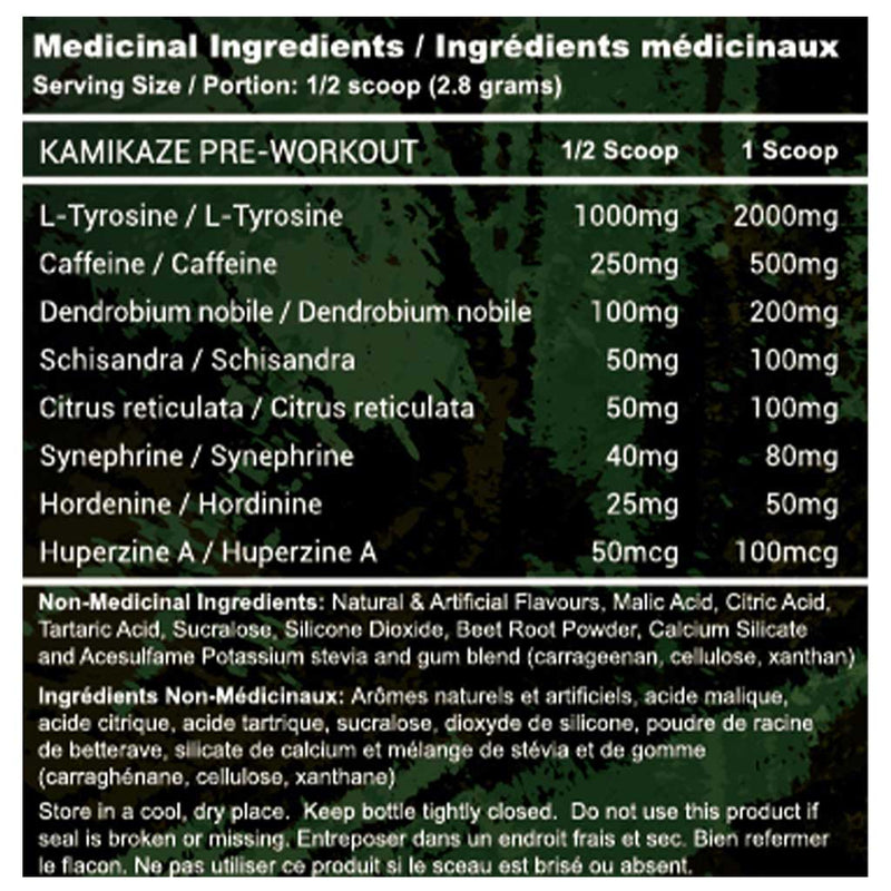 Advanced Genetics KAMIKAZE (Pre-Workout), 60 Servings