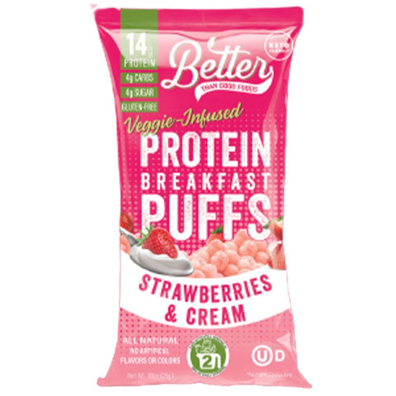 Better Than Good PROTEIN GRAB N GO PUFFS, Variety - 4 Pack