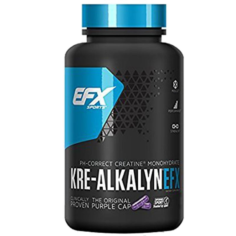EFX Sports KRE-ALKALYN 750mg, 192 Caps *Bonus Size