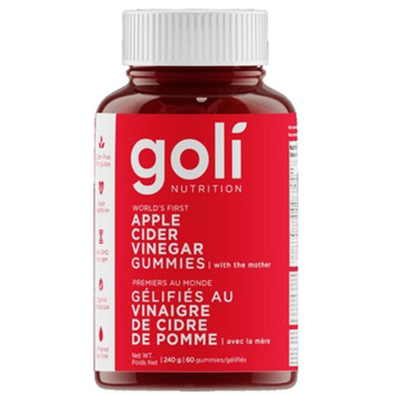 Goli Nutrition APPLE CIDER VINEGAR GUMMIES, 60 Gummies