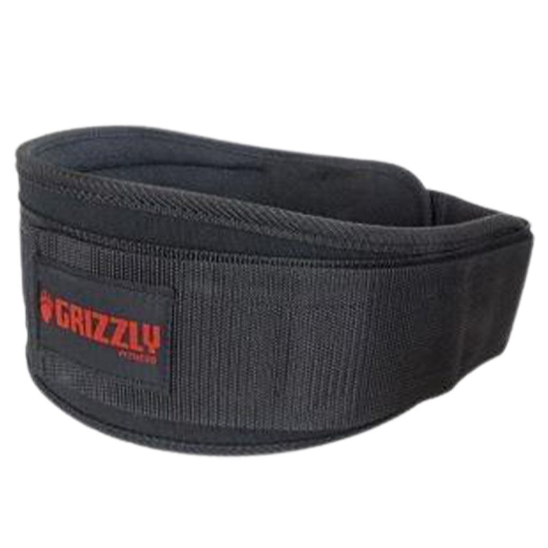 Grizzly Fitness SOFLEX NYLON PRO WEIGHT TRAINING BELT 8837-04 Black