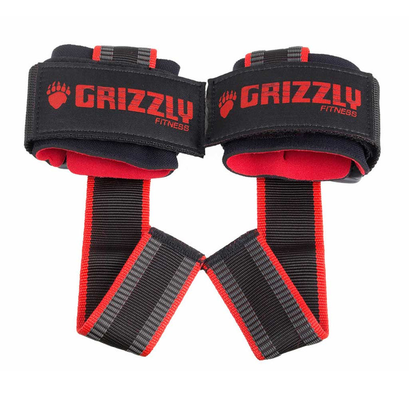 Grizzly SUPER GRIP DELUXE PRO LIFTING STRAPS w WRIST WRAPS - 8649-32