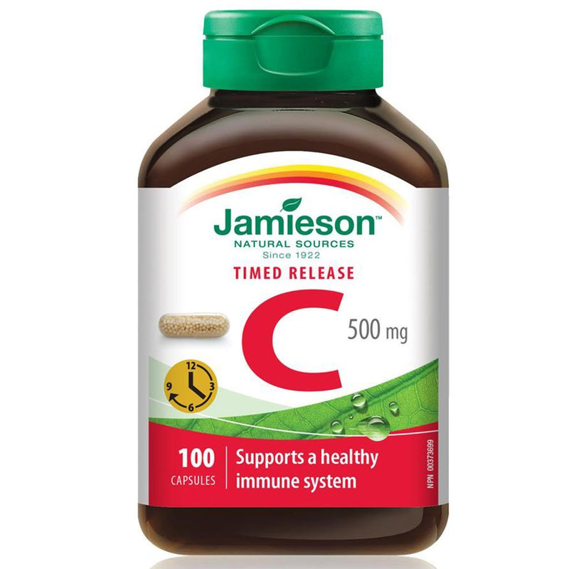 Jamieson VITAMIN C, 500mg x 100 Timed Release Caps