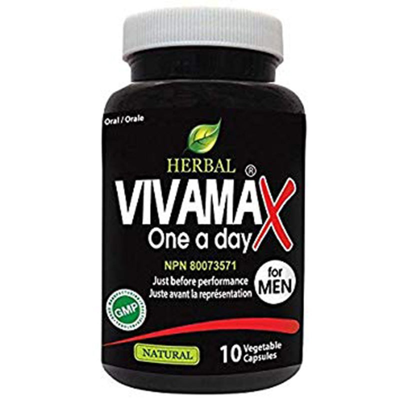 CLEARANCE Nutridom HERBAL VIVAMAX ONE A DAY, 10 Vcaps