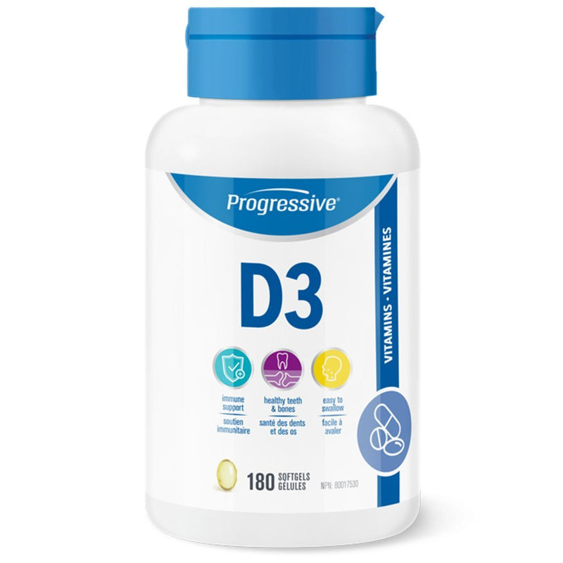 Progressive VITAMIN D3, 180 Softgels