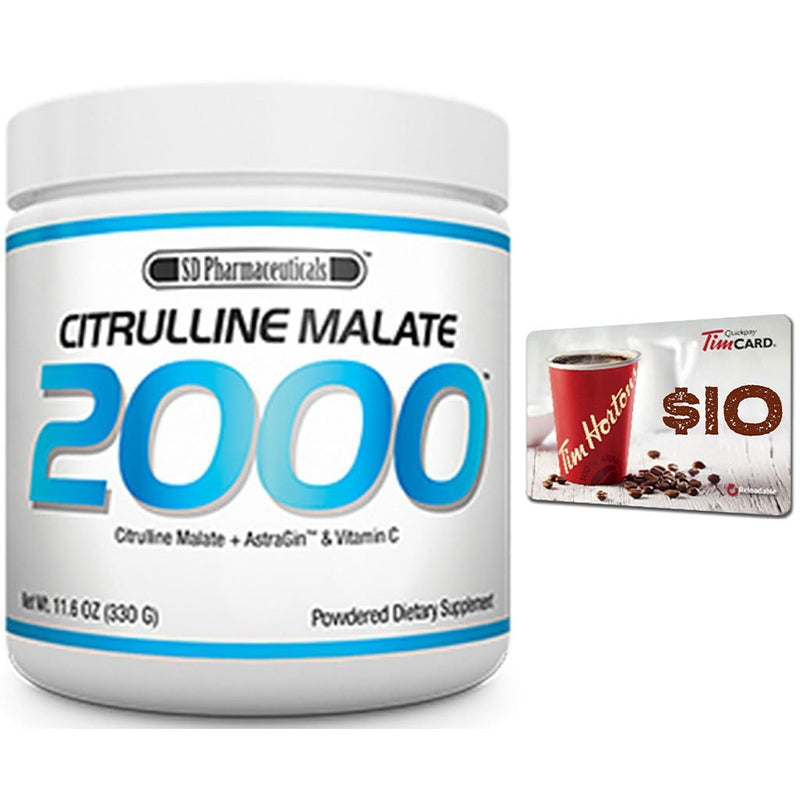 SD Pharma CITRULLINE MALATE 2000, 110 Servings + FREE Tim Horton's Gift Card