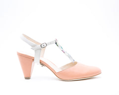Blush Mule + Billie in Cream
