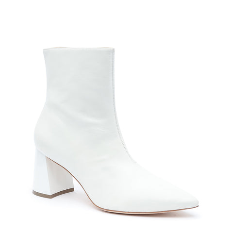 """Alterre Shoes 3"""" White Leather Boot"""