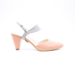 Blush Mule + Elsie in Grey