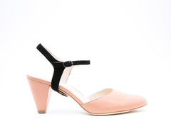 Blush Mule + Jackie in Black