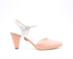 Blush Mule + Jackie in Cream