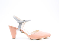 Blush Mule + Jackie in Grey