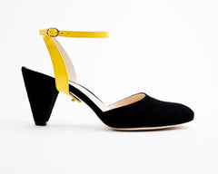 Black Suede Mule + Marilyn in Sunshine