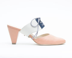 Blush Mule + Tilda in Cream/Evening Sky