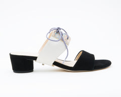 Black Sandal + Tilda in Cream/Stingray