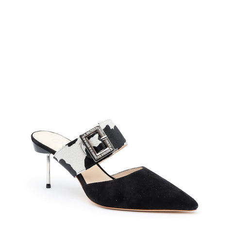 Black Suede Stiletto + Cow Grace Custom Stilettos | Alterre Make A Shoe - Sustainable Shoes & Ethical Footwear