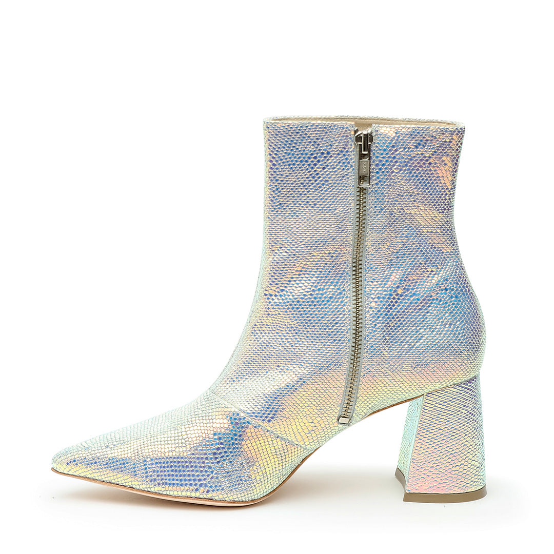Shiny Snake Print Personalized Womens Boots | Alterre Create Your Own Shoe - Sustainable Footwear Brand & Ethical Shoe Company
