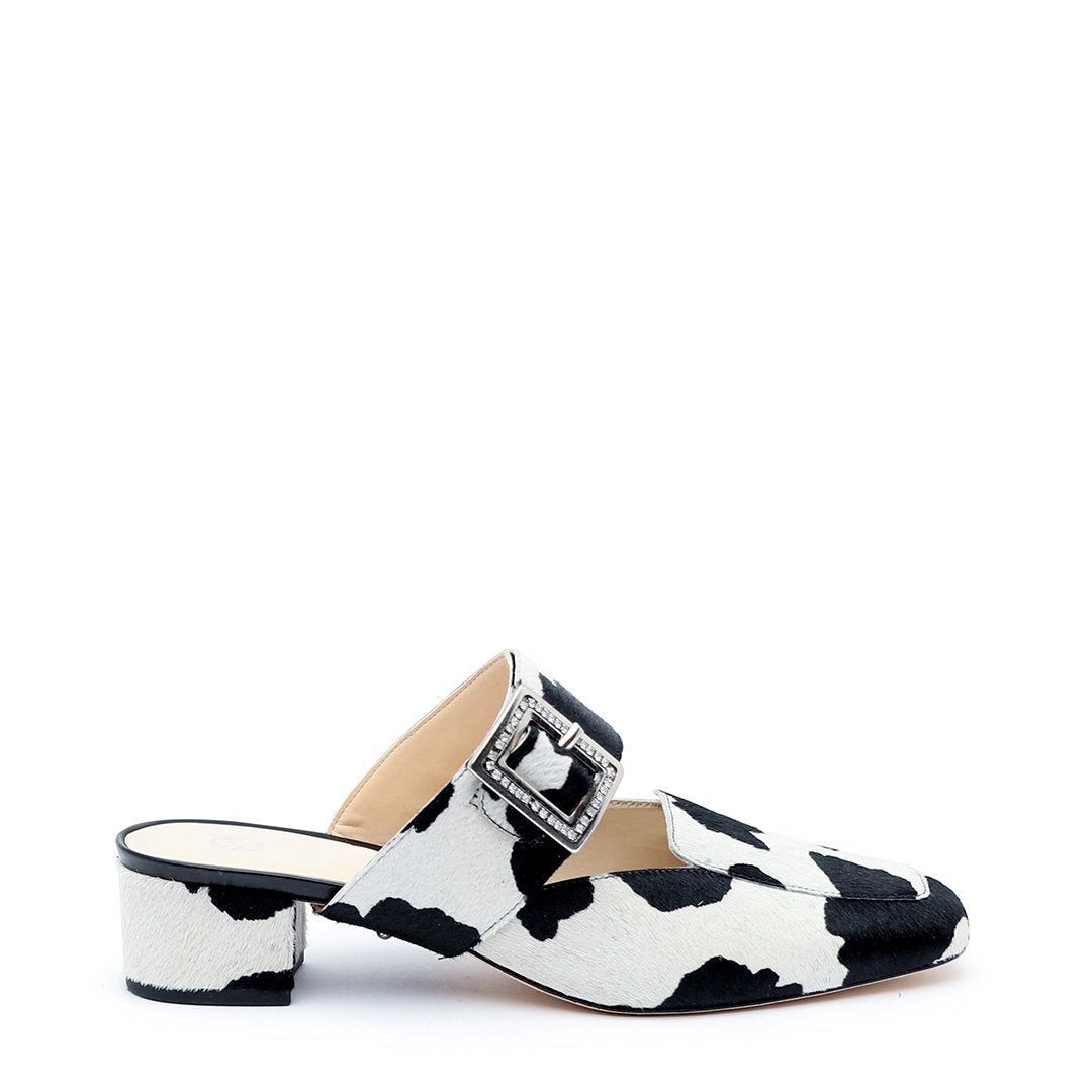 Cow Print Customized Loafer + Grace Strap | Alterre Interchangeable Loafers - Sustainable Shoes & Ethical Footwear