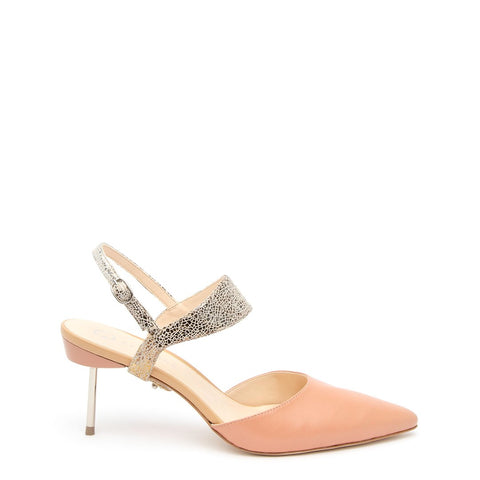 Blush Stiletto + Broken Mirror Elsie Customized Stilettos | Alterre Interchangeable Stilletos - Sustainable Footwear & Ethical Shoes