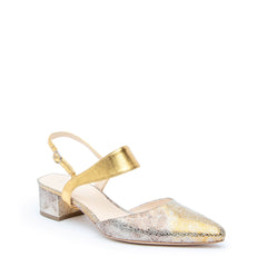 Broken Mirror Slide + Gold Elsie Custom Slide Sandals | Alterre Make A Shoe - Sustainable Shoes & Ethical Footwear