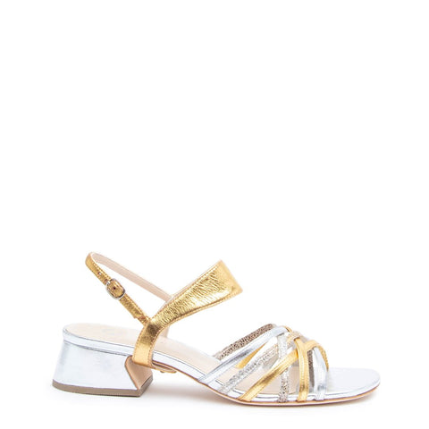 Silver Bell Sandal + Gold Elsie Customized Sandals | Alterre Interchangeable Sandals - Sustainable Footwear & Ethical Shoes