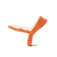 Elsie in Orange Suede Customized Shoe Straps | Alterre Interchangeable Shoes - Sustainable Footwear & Ethical Shoes