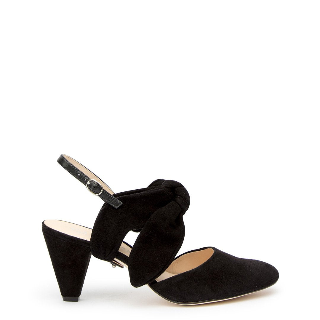 Black Suede Mule + Erykah Customized Mid-Heel Mules | Alterre Interchangeable Mules - Sustainable Footwear & Ethical Shoes