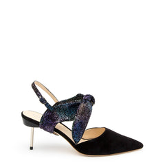 Black Suede Stiletto + Cosmic Splatter Erykah