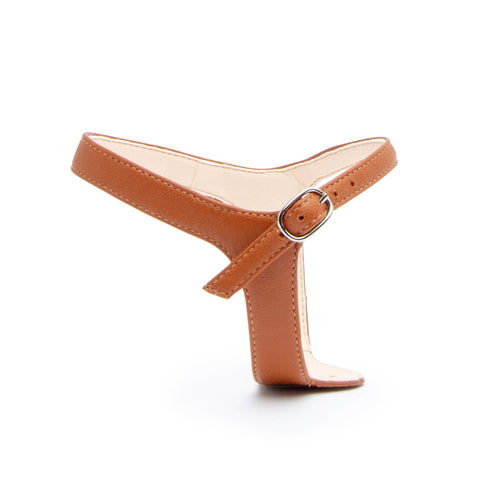 Jackie in Cognac Customized Shoe Straps | Alterre Interchangeable Shoes - Sustainable Footwear & Ethical Shoes