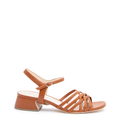 Cognac Bell Sandal + Jackie Customized Sandals | Alterre Interchangeable Sandals - Sustainable Footwear & Ethical Shoes