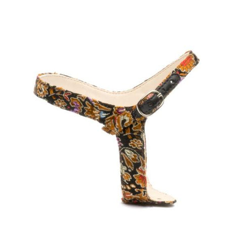 Jackie in Silk Floral Customized Shoe Straps | Alterre Interchangeable Shoes - Sustainable Footwear & Ethical Shoes