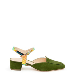 Moss Loafer + Solar Flare Jackie Customized Womens Loafers | Alterre Interchangeable Loafers - Sustainable Footwear & Ethical Shoes