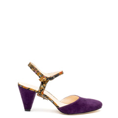 Jackie in Silk Floral Custom Shoe Straps | Alterre Make A Shoe - Sustainable Shoes & Ethical Footwear