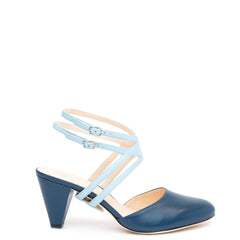 Lozen in Agate Blue Personalized Womens Shoe Straps | Alterre Create Your Own Shoe - Sustainable Shoe Brand & Ethical Footwear Company