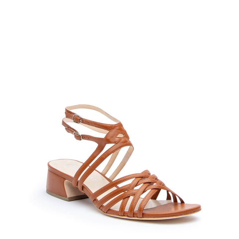 Cognac Bell Sandal + Lozen Custom Sandals | Alterre Make A Shoe - Sustainable Shoes & Ethical Footwear